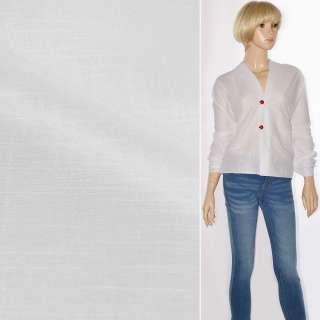 Льон-батист білий зі штрихами ш.150