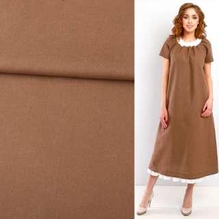 Льон коричневий кольори кориці ш.140