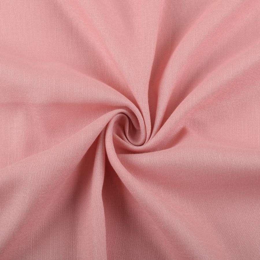 Льон стрейч з бавовною бежево-рожевий ш.145