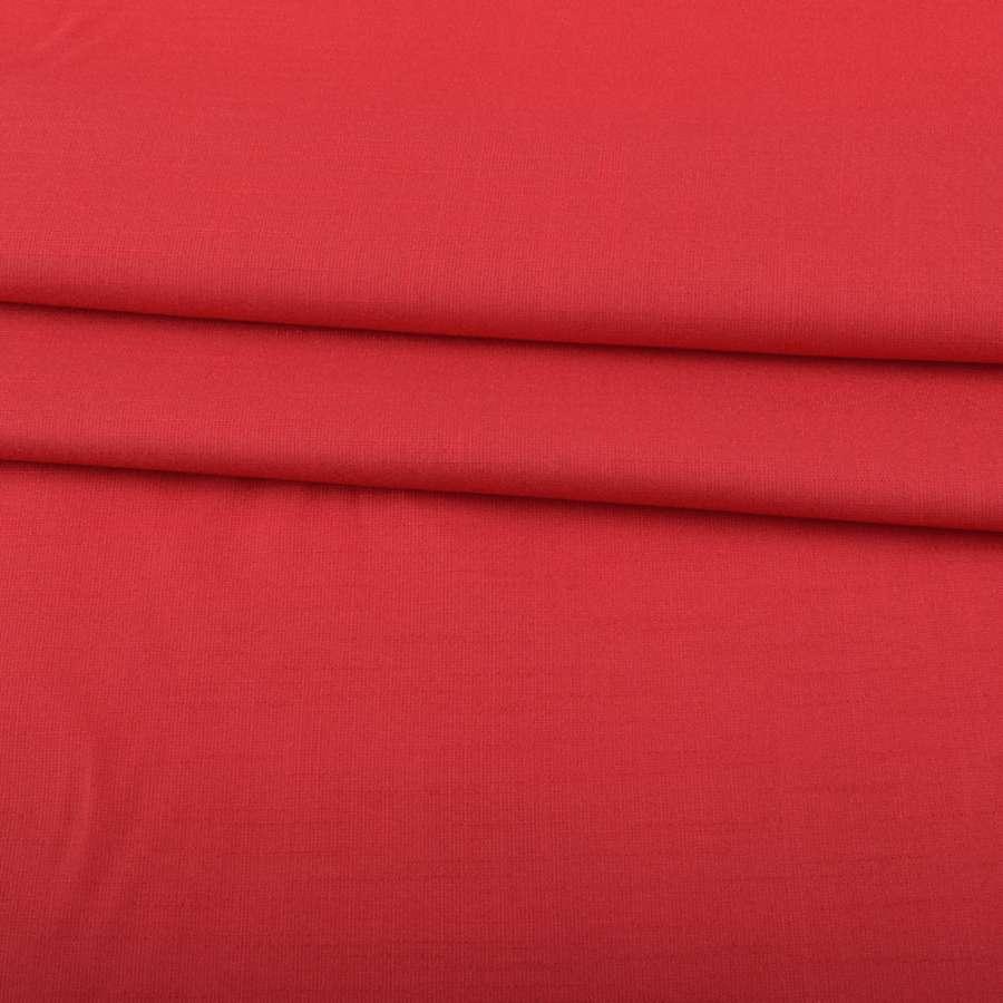 Льон стрейч з бавовною червоний ш.145