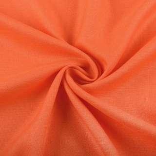 Лен стрейч с хлопком оранжевый ш.145
