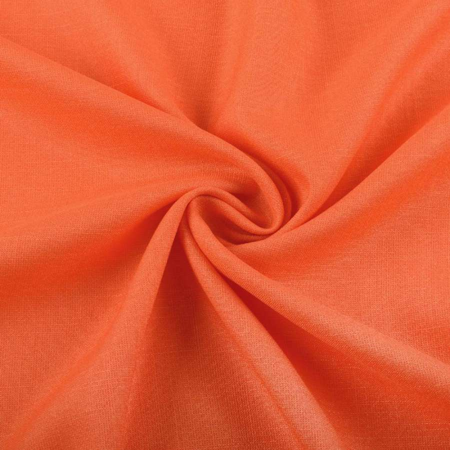 Льон стрейч з бавовною помаранчевий ш.145
