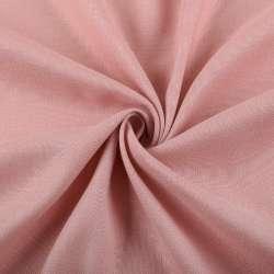 Льон стрейч з бавовною рожево-сірий ш.145