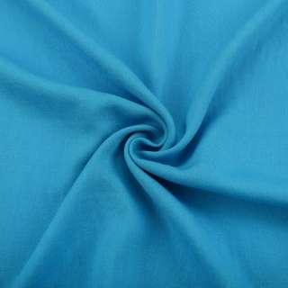Льон з віскозою блакитний яскравий ш.150