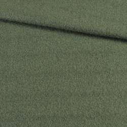 Лоден мохер зеленый темный, ш.155