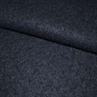 Лоден-букле синий темный ш.156