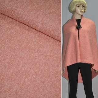 лоден-букле розово-персиковый ш.150