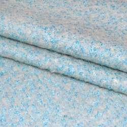 Лоден-букле молочно-голубой ш.150
