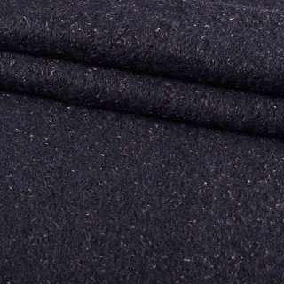 Лоден-букле синій темний ш.150