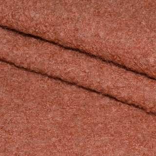 Лоден-букле теракотовий ш.150