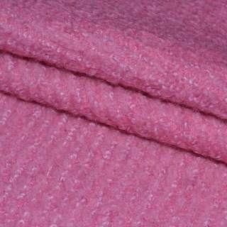 """Лоден-букле """"діагональ"""" яскраво-рожевий ш.154"""