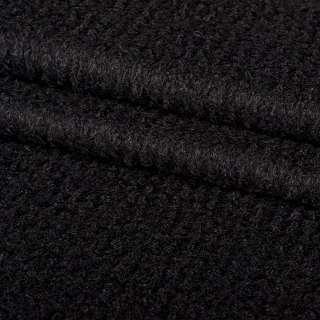 """Лоден-букле """"діагональ"""" чорний ш.150"""