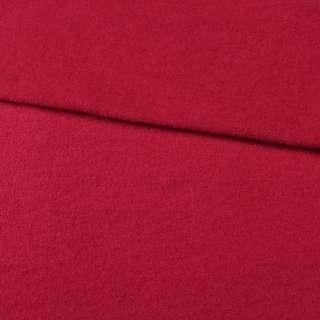 Лоден шерстяной костюмный красный темный, ш.155