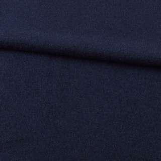Лоден шерстяной костюмный синий темный, ш.155