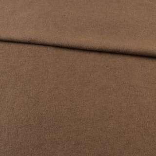 Лоден шерстяной костюмный коричневый, ш.155
