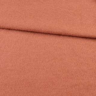 Лоден шерстяной костюмный терракотово-розовый, ш. 150
