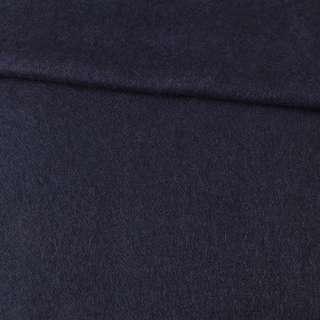 Лоден мохеровый пальтовый синий темный, ш.155