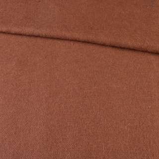 Лоден мохеровый пальтовый коричневый, ш.150