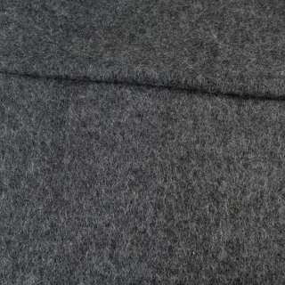 Лоден мохеровый черно-серый меланж, ш.150