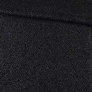 Лоден мохеровий з стрижені ворсом пальтовий чорний ш.150