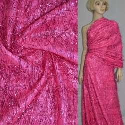 Травка яскраво-рожева з люрексовими нитками, ш.140