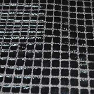 луска чорна з чорними квадратними паєтками ш.100