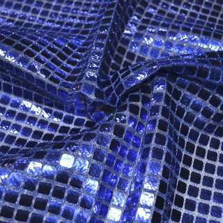 луска синя з квадратними паєтками, ш.100 см.