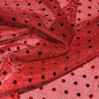 луска червона з дрібними круглими паєтками ш.100