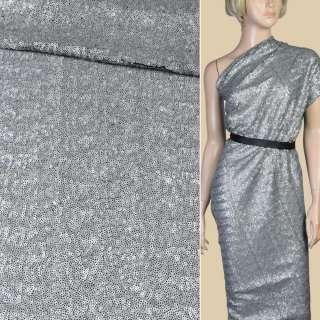 Пайетки серые матовые,настроченные волнами на сетке ш.125