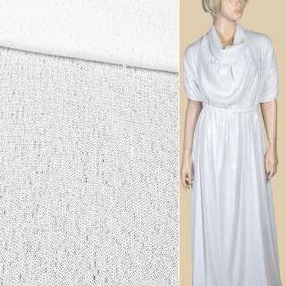 Пайетки* белые полуматовые, настроченные полосами на белой сетке, ш.140