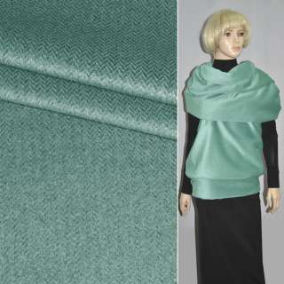 Тканина пальтова в ялинку зелена