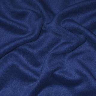 Альпака пальтовая синяя однотонная ш.150