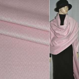 Альпака розовая в елочку, ш.150