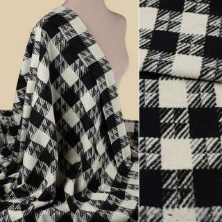 Пальтовая ткань в клетку черно-белую, ш.150