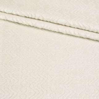 Альпака-ялинка (лоден) на трикотажній основі молочна ш.150