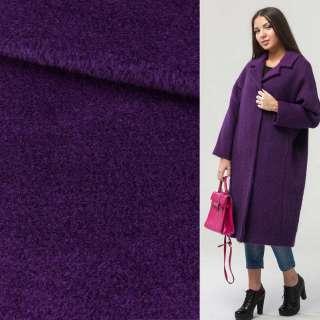 Альпака-лоден на трикотажной основе фиолетовая ш.160