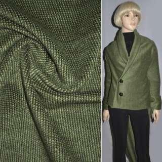 ткань пальтов.темно-зеленая в крапинки