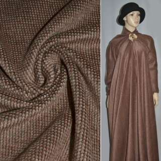 Ткань пальтовая рыжая в крапинку ш.150