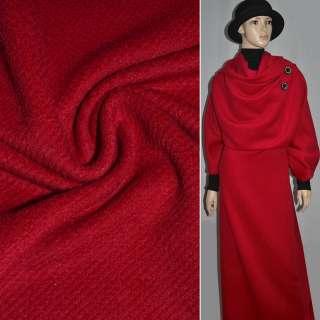 Ворсова пальтова червона діагональ, ш.150