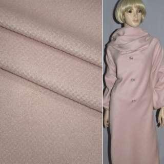 Ворсова пальтова рожева діагональ, ш.150