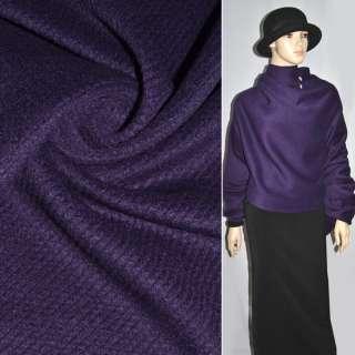 Ворсова пальтова фіолетова діагональ, ш.150