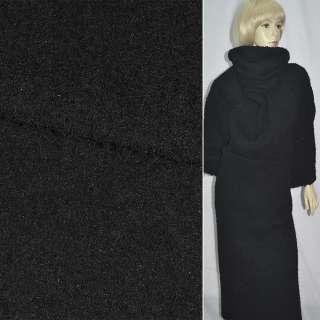 Тк. пальтовая черная  (ворсовая) ш. 150 см.