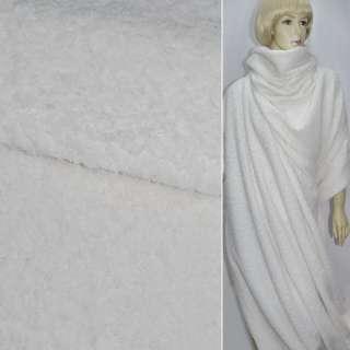 Ткань пальтовая белая  (ворсовая) ш. 150 см.