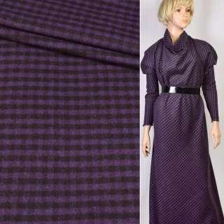 Кашемір дрібна клітка фіолетово-чорна ш.160