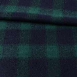 Пальтовая ткань в клетку крупную синюю, зеленая, ш.153