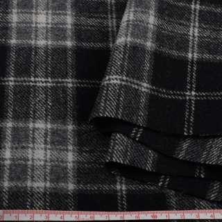 Шотландка пальтова чорна в сіру клітку ш.150