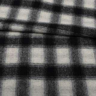 Шотландка пальтова сіра світла в чорну клітинку ш.155