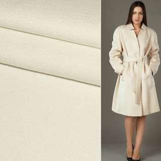 Тканина пальтова 2-х сторін. біла ш.150 см.