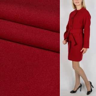 Тканина пальтова 2-х сторін. червона ш.150 см.