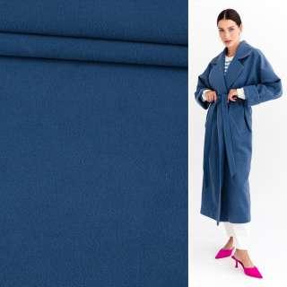 Тканина пальтова 2-х сторін. св / синя ш.150 см.